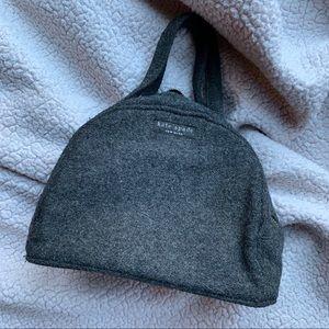 Kate Spade Wool Handbag Gray Grey EUC
